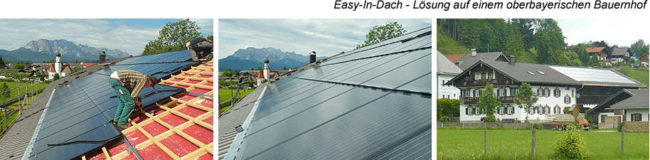 Photovoltaik Easy-In-Dach Lösung